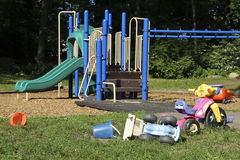 Children's Playground. On a summer day Royalty Free Stock Photo