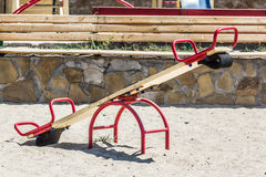 Children's playground, swing in the sand. Summer Royalty Free Stock Photography