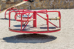 Children's playground, swing in the sand. Summer Royalty Free Stock Image