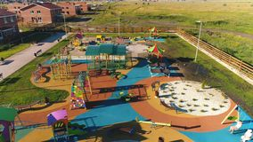 Children`s playground. Top view. stock footage