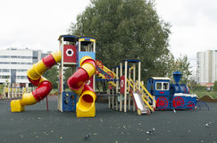 Children`s playground with turnstile Royalty Free Stock Image