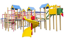 Children`s playground. On a white background royalty free stock images