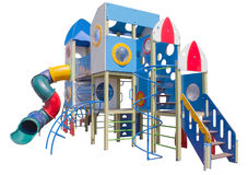 The Children`s playground. Children`s playground on a white background stock photography