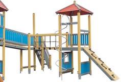 Children`s playground on white. Background stock photos
