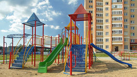 Children's playground in the yard Royalty Free Stock Image
