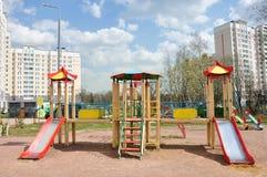 Children's playground in  yard Stock Image