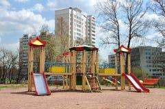 Children's playground in  yard Royalty Free Stock Photo