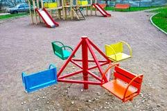 Children's playground in  yard Stock Photos