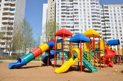 Children's playground in  yard Stock Images