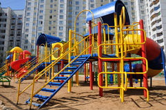 Children's playground in  yard Royalty Free Stock Images