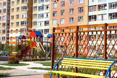 Children's playground in the yard Stock Photos