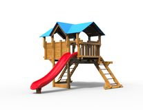 Children's playhouse - studio shot. Isolated on white background Royalty Free Stock Photography