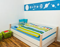 Children's Playroom with bed Royalty Free Stock Photo