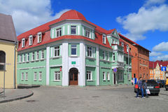 Children's policlinic on Telman Street in the city of Gvardeysk Stock Photos