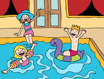 Children's Pool Party Royalty Free Stock Photo