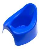 Children's pot. Blue children's pot on a white background Stock Images