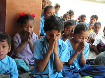 Children's prayer Stock Image