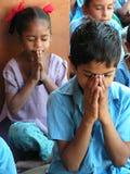 Children's prayer Stock Images