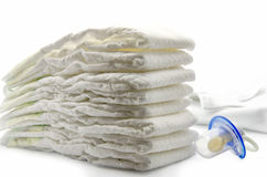 Children's products. Facilities ddlya child care on a white background Royalty Free Stock Photo