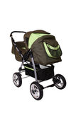 Children's pushchair. Baby carriage, from my objects series Royalty Free Stock Photo