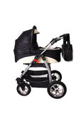 Children's pushchair. Baby carriage, from my objects series Royalty Free Stock Photography
