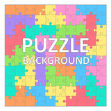 Children`s Puzzles background with colored tetris shapes. 100 pieces. Royalty Free Stock Image