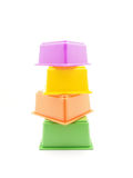 Children's pyramid. On a white background royalty free stock photography