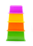 Children's pyramid. On a white background royalty free stock images