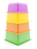 Children's pyramid. On a white background royalty free stock photo