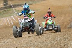 Children`s quad race Royalty Free Stock Photo