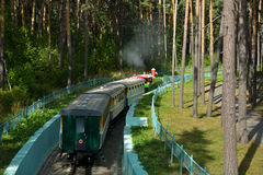Children's railway in Novosibirsk, Russia Royalty Free Stock Photography