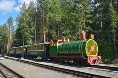 Children's railway in Novosibirsk, Russia Royalty Free Stock Photo