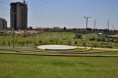 Children& x27;s recreation park. New public children& x27;s recreation park in the new residential area of the city Royalty Free Stock Image