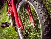 Children's red bicycle BMX Royalty Free Stock Photo