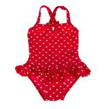 Children's red swimsuit Stock Photo