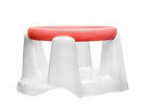 Children's red-white chair for bathing Stock Images