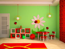 Children's room stock illustration