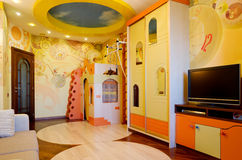 Children's Room. Beautiful interior of children's room Stock Photography