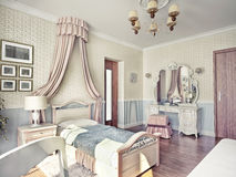 Children's  room. Children's luxury room interior 3d image Stock Photo