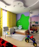 Children's room. Interior of a children's room 3d image Stock Photography
