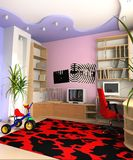 Children's room. Interior of a children's room 3d image Stock Photo
