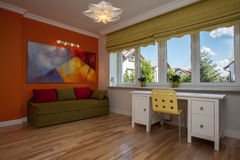 Children's room. Children room with colorful sofa and walls Royalty Free Stock Photo