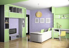 Children's room 3d Royalty Free Stock Photo