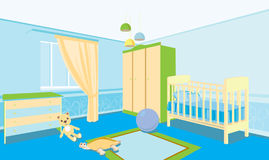 Children's room for the boy Royalty Free Stock Photos