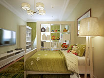 Children's room for boy modern style Royalty Free Stock Photography