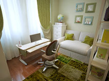 Children's room for boy modern style Royalty Free Stock Photo