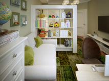 Children's room for boy modern style Royalty Free Stock Images