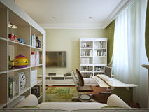 Children's room for boy modern style Royalty Free Stock Photos