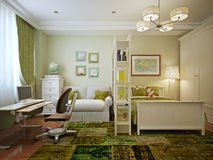 Children's room for boy modern style Royalty Free Stock Image