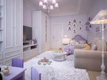 Children's room for girls classic style Royalty Free Stock Photo